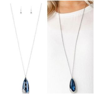 SPELLBOUND BLUE NECKLACE/EARRING SET